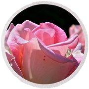 Pearl Pink Petals Round Beach Towel