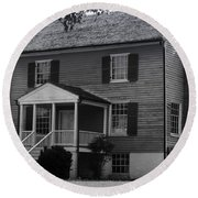 Peers House Appomattox County Court House Virginia Round Beach Towel by Teresa Mucha