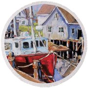 Peggy S Cove 02 By Prankearts Round Beach Towel