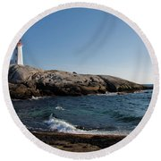 Peggy's Cove Light Round Beach Towel