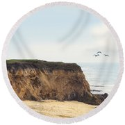 Pelican Point Round Beach Towel