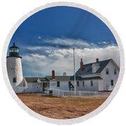 Pemaquid Point Lighthouse 4800 Round Beach Towel