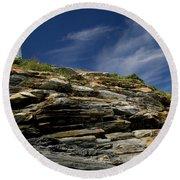 Pemaquid Point Lighthouse Round Beach Towel