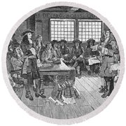 Penn And Colonists, 1682 Round Beach Towel