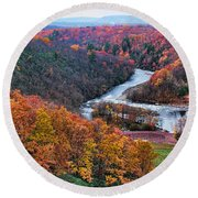 Pennsylvania Color Round Beach Towel