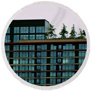 Penthouse Pines Round Beach Towel