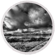 Penyfan Pond Mono Round Beach Towel