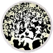Peoples Extract  Round Beach Towel