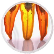 Peppers In Half Round Beach Towel