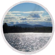 Perfect Day On The Lake Round Beach Towel