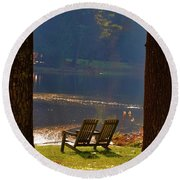 Perfect Morning Place Round Beach Towel