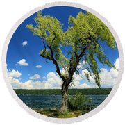 Perfect Picnic Spot Round Beach Towel