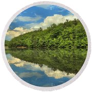 Perfect Reflections Round Beach Towel