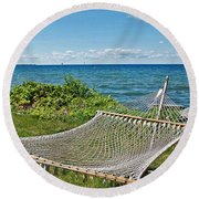 Perfect Vacation Spot Round Beach Towel
