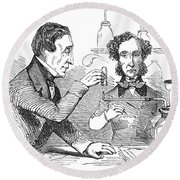 Performing The Marsh Test, 1856 Round Beach Towel by Science Source