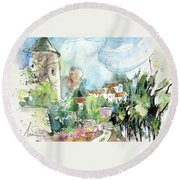 Perigord In France 06 Round Beach Towel