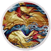 Permanent Waves Round Beach Towel