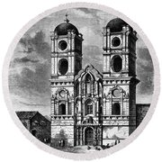 Peru: Jesuit Church, 1869 Round Beach Towel