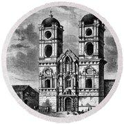 Peru: Jesuit Church, 1869 Round Beach Towel