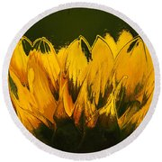 Petales De Soleil - A41b Round Beach Towel by Variance Collections