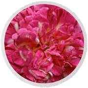 Petals Petals And More Petals Round Beach Towel