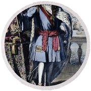 Peter The Great Round Beach Towel