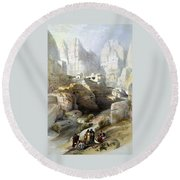 Petra March 10th 1839 Round Beach Towel