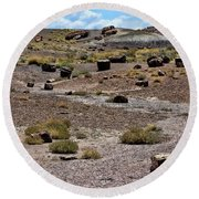 Petrified Forest National Park 2 Round Beach Towel