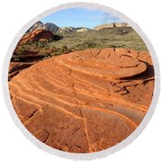 Petrified Sand Dunes - Snow Canyon Utah  Round Beach Towel
