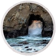 Pfeiffer Rock Big Sur 2 Round Beach Towel