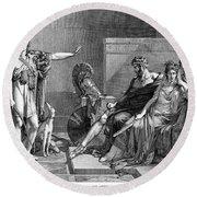 Phaedra And Hippolytus Round Beach Towel