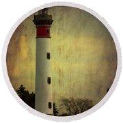 Phare De Ouistreham Or Ouistreham Lighthouse    Caen Round Beach Towel
