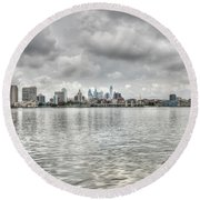 Philadelphia Across The Water Round Beach Towel