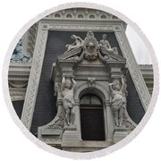 Philadelphia City Hall Window Round Beach Towel