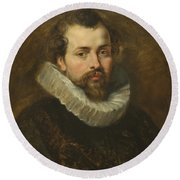 Philippe Rubens - The Artist's Brother Round Beach Towel by Peter Paul Rubens