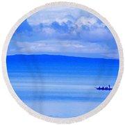 Philippine Sea Sunrise Round Beach Towel