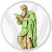 Philippos Of Acarnania, Physician Round Beach Towel