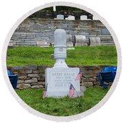 Phillies Harry Kalas' Grave Round Beach Towel