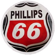 Phillips 66 Round Beach Towel