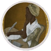 Phillis Wheatley, African-american Poet Round Beach Towel by Photo Researchers