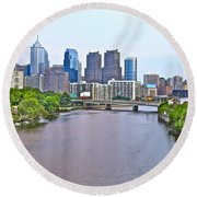 Philly By Water Round Beach Towel