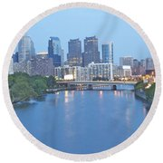 Philly In Blue Round Beach Towel