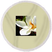 Photo For Sydneys Magnolia Painting Round Beach Towel