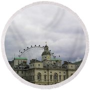 Photo Of London With London Eye In The Background Round Beach Towel