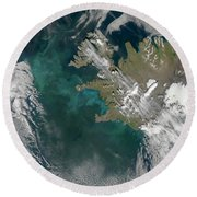Phytoplankton Bloom In The North Round Beach Towel by Stocktrek Images