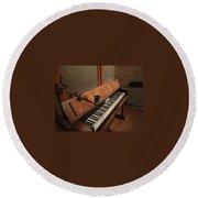 Piano Candelabra Round Beach Towel