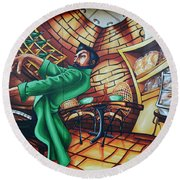 Piano Man 2 Round Beach Towel