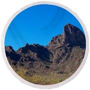 Picacho Peak - Arizona Round Beach Towel