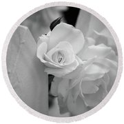Picket Rose Round Beach Towel