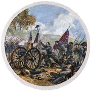 Picketts Charge, 1863 Round Beach Towel